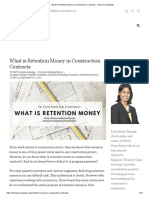 What is Retention Money in Construction Contracts - Sihela Consultants