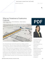 What are Variations in Construction Contracts - Sihela Consultants