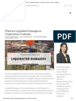What are Liquidated Damages in Construction Contracts - Sihela Consultants