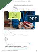 Trucos para resolver los acertijos matemáticos