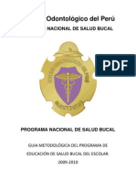 Plan de Comunicacion Educativa Colegio Odontologico Del Peru