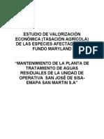 ESTUDIO DE VALORIZACIÓN ECONÓMICA
