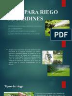 AGUA PARA RIEGO DE JARDINES