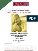 Congreso Internacional Jose Maria Arguedas, Vida y Obra