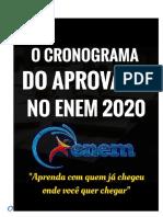 CronogramadoaprovadoENEM2020