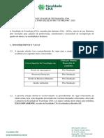 Edital - Seleção de Tutores Faculdade CNA-Tutores 2020