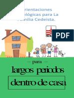 Orientaciones psicologicas en la Familia para largos periodos en casa. Comunidad CDE