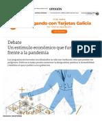 Un estímulo económico que funcione frente a la pandemia - Clarín