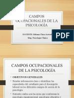 CLASE 1 PRESENTACION DE LA MATERIA CAMPOS OCUPACIONALES