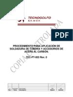 PT 03 TECNOGOLFO soldadura tuberia y accesorios ac