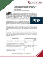 NOTICIA SOBRE LA INSPECCIÓN PARA EL SECTOR DE LA CONSTRUCCIÓN FRENTE A COVID-19