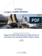 Oregon SOS Audit on Child Welfare