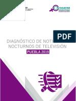 Diagnóstico de noticiarios nocturnos de televisión. Puebla 2019