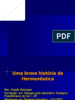 Uma breve História da Hermenêutica - Evaldo Beranger