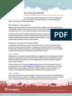 Emergents Community Energy Model