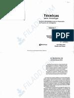 Yuni _ Urbano (2006). Técnicas para investigar. Cap. El problema de investigación y Cap La formulación de objetivos