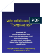 Mother to child transmission of TB what do we know by Amita Gupta, India