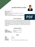 CV Diego M. Palacios C.  2020