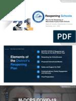 M-DCPS Reopening Plan (July 1 presentation)