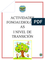 cuadernillo I nivel de Transición