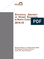 NC Higher Education Statistical Abstract 2014-2015