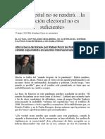 El capital no se rendirá la solución electoral no es suficiente