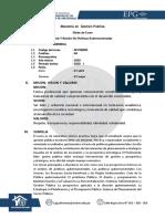 8 SILABO ANALISIS Y GESTION DE POLITICAS GUBERNAMENTALES.pdf