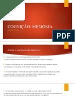Análise conceituaal - cognição e memória