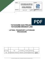 TBL-RETEL-AA-SF-PR-008 LIFTING TRANSPORT  STORAGE PROCEDURE