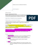 Resumen Dirección y organización de la empresa