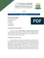 Projeto Monitoria Digital em Língua Portuguesa Instrumental