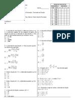 Exame final  SI 1 2012