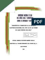 DIAGNÓSTICO FINANCIERO A LA EMPRESA ELÉCTRICA REGIONAL DEL SUR
