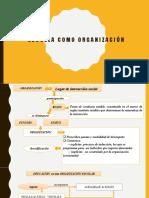 Escuela como organización (Baeza)