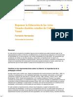 hernandez - Repensar la Educación de las Artes Visuales