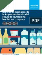 Efectos Inmediatos de La Implementación Del Rotulado Nutricional Frontal en Uruguay