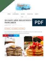 10 Easy and Delicious Vegan Pancakes - Vegan Heaven