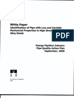 2009-09-00 INGAA Foundation White Paper ID of Pipe With Low and Variable Properties Search Able