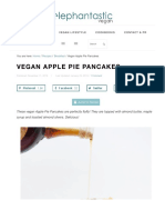 Vegan Apple Pie Pancakes   Elephantastic Vegan
