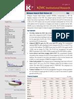 2010-04-29 KJMC Institutional Research Welspun Results Update