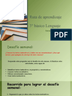 6° semana ruta de aprendizaje 3° básico Lenguaje