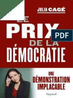Le prix de la democratie (Docum - Julia Cage