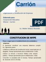 Constitucion y Organizacion de Empresas Semana 8