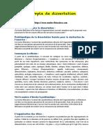 Exemple de dissertation