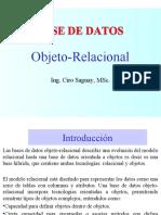 Implementacion de BD Objeto-Relacional