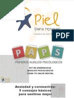 Kit de emergencia primeros auxilios psicologicos 2019
