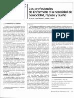 LECTURA- OS PROFESIONALES DE ENFERMERÍA Y LA NECESIDAD DE COMODIDAD