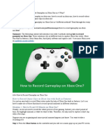 How to Record Gameplay on Xbox One 2
