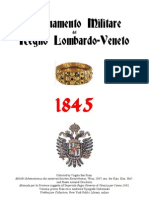 Military Organization of the Lombard Venitian Kingdom 1845