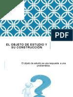 EL OBJETO DE ESTUDIO Y SU CONSTRUCCIÓN